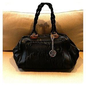 Large Black Bally Shoulder Bag